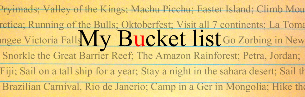 Create Your Own Bucket List with These Four Easy Steps